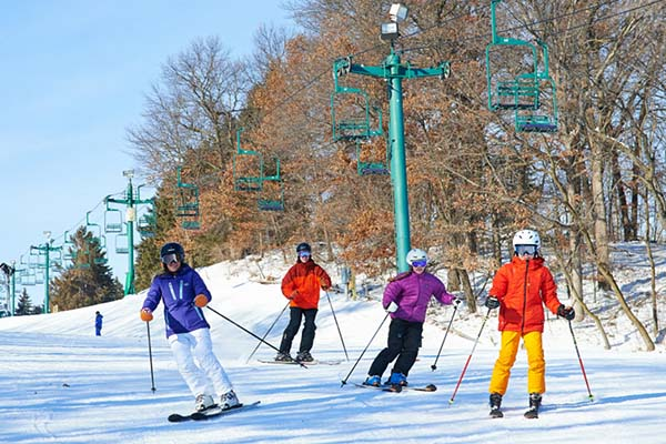 Downhill skiing at Afton Alps