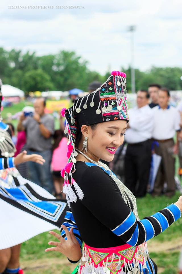 Dancer at Hmong International Freedom Festival in Saint Paul Minnesota