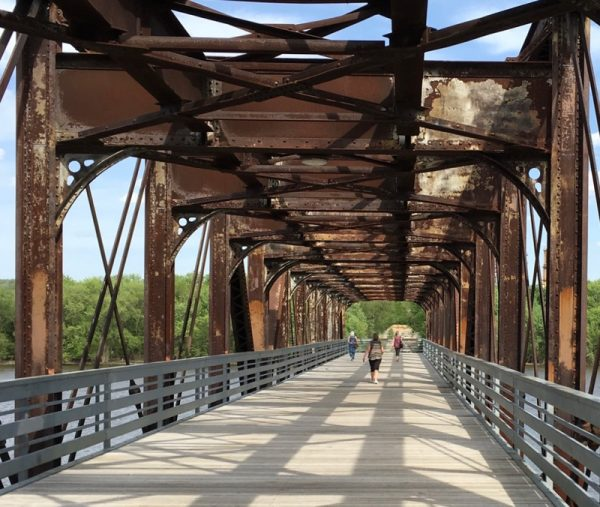 swing bridge park
